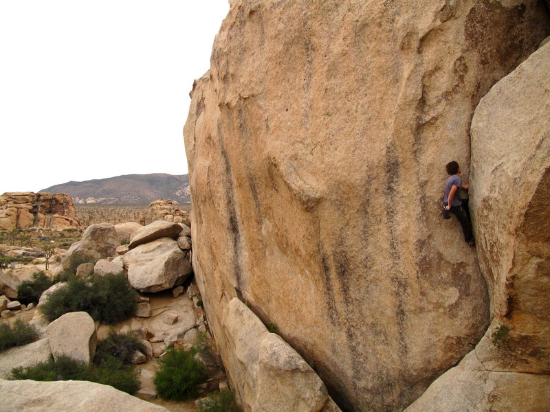 Casey soloing around hidden valley cg for a warm down to end the day.  awesome solo circuit through this cg.  on this day we had 6 people conga lining it on the solo circuit!