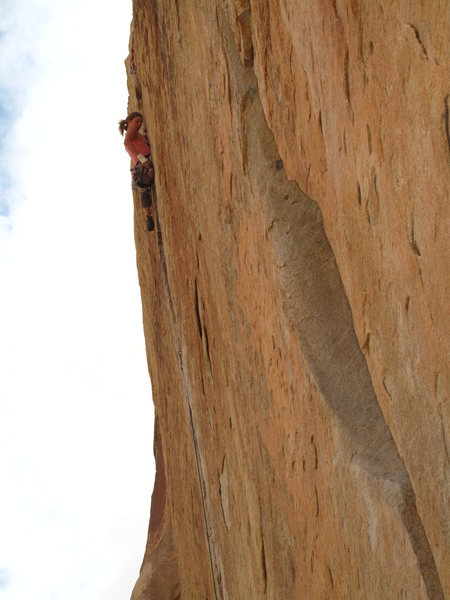 Rock Climbing Photo: alexis charging through the OW pod about 2/3 way u...