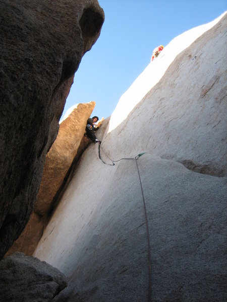 Rock Climbing Photo: chilling near the top of buissionner (sp?) 5.7ish ...