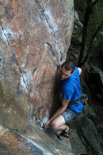 Rock Climbing Photo: jeff rocks on to the feet and will stay on them fo...