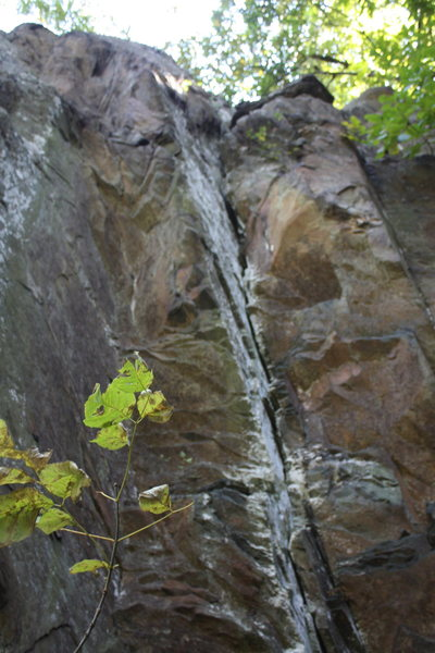 Rock Climbing Photo: to the right of main leaning face is nice crack fo...