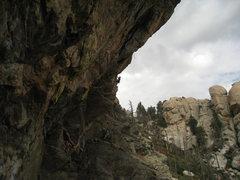 Rock Climbing Photo: Adrea almost half way up