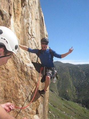 Rock Climbing Photo: Psyched to get started at Eagle Peak