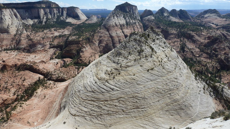 Rock Climbing Photo: That butte is its own topo map! Astounding view fr...