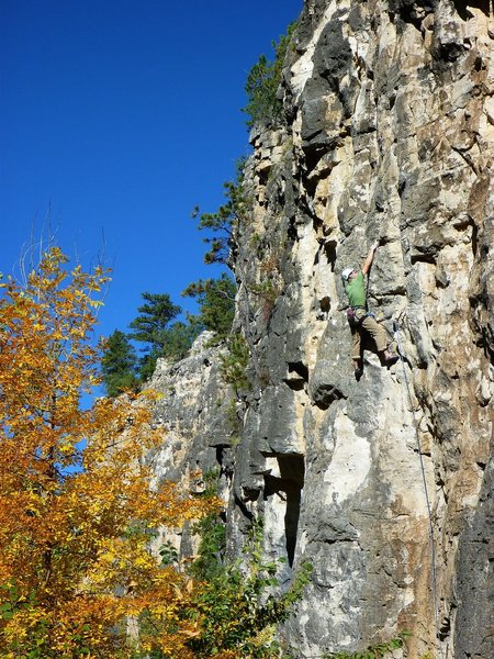 Rock Climbing Photo: CE on the same 10b.