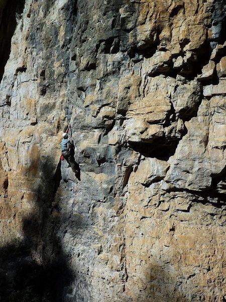 Rock Climbing Photo: The Councilman leading this fun route.
