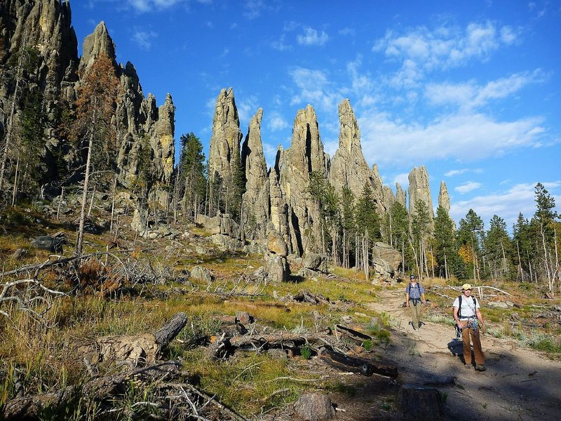 Rock Climbing Photo: Walking out at the end of a great fall day climbin...