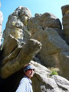 Rock Climbing Photo: The Conn sense of humor.  Story is Herb climbed ou...