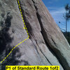 Beta: first half of pitch 1 of Standard Route.