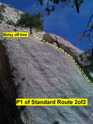Rock Climbing Photo: Beta: second half of pitch 1 of Standard Route.