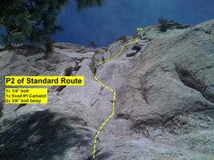 Rock Climbing Photo: Beta: pitch 2 of Standard Route.