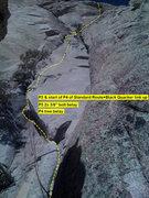 Rock Climbing Photo: Beta: pitch 3 and start of pitch 4 of Standard Rou...