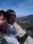 Rock Climbing Photo: Robert and me at the 4th belay of Standard Route-B...