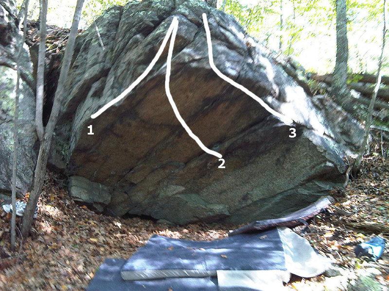 Rock Climbing Photo: Belfield Roof topo