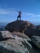 Rock Climbing Photo: Me on the summit of Rappel Rock after climbing the...