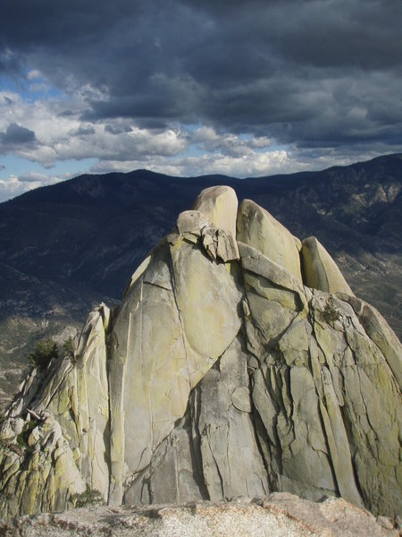 Rock Climbing Photo: Storm rolling in on the Witch