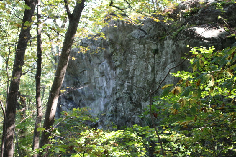 Rock Climbing Photo: view of part of top half of crag.