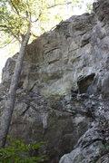 Rock Climbing Photo: center area of main cliff