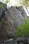 Rock Climbing Photo: looking up towards center area from left tapered e...