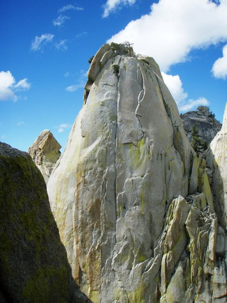 Upper pitch of Thin Ice on the East Face of the Sorcerer