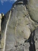 Rock Climbing Photo: Another shot of a climber on Airy Interlude...