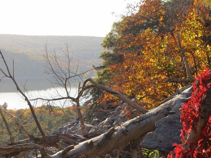 Rock Climbing Photo: Autumn light