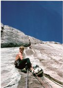 Rock Climbing Photo: Todd Offenbacher on belay with Eddie on lead doing...