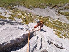 Rock Climbing Photo: Kat on P3
