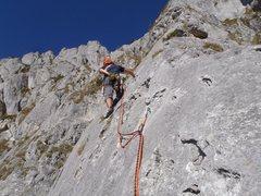 Rock Climbing Photo: Dani starting P5
