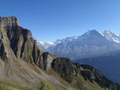 Rock Climbing Photo: Eiger view from Hintisberg