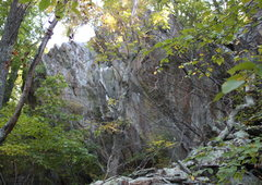Rock Climbing Photo: first view of main cliff