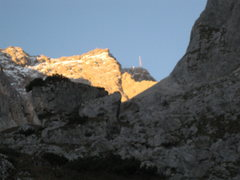 Rock Climbing Photo: First view of the summit