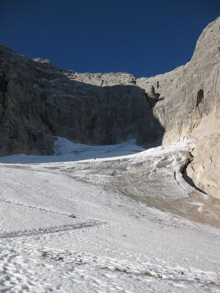 Rock Climbing Photo: Walk up the glacier