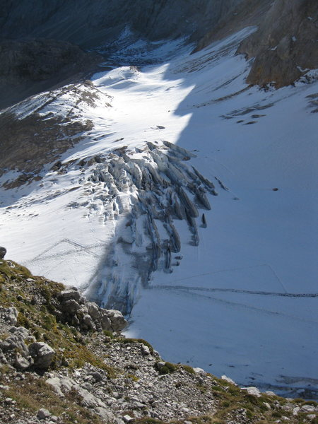 Rock Climbing Photo: View of the glacier from higher up the kletterstie...