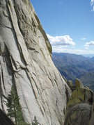 Rock Climbing Photo: Spook Book (5.10+) on the Witch takes the obvious ...