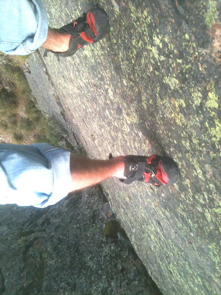 Rock Climbing Photo: My feet and the rock :)