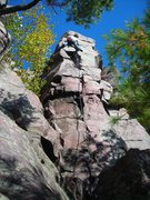 Rock Climbing Photo: Third pitch of a very nice fall weather Wednesday ...