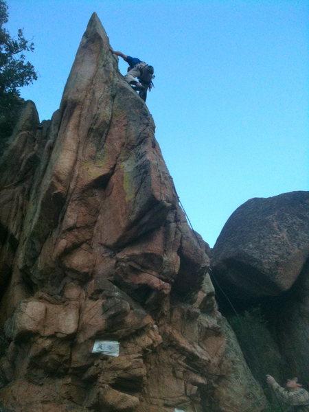 Rock Climbing Photo: Hartman Rocks... Shark Fin... During Gunnison Glor...