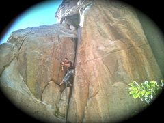 Rock Climbing Photo: A great first trad lead...I found right hand just ...