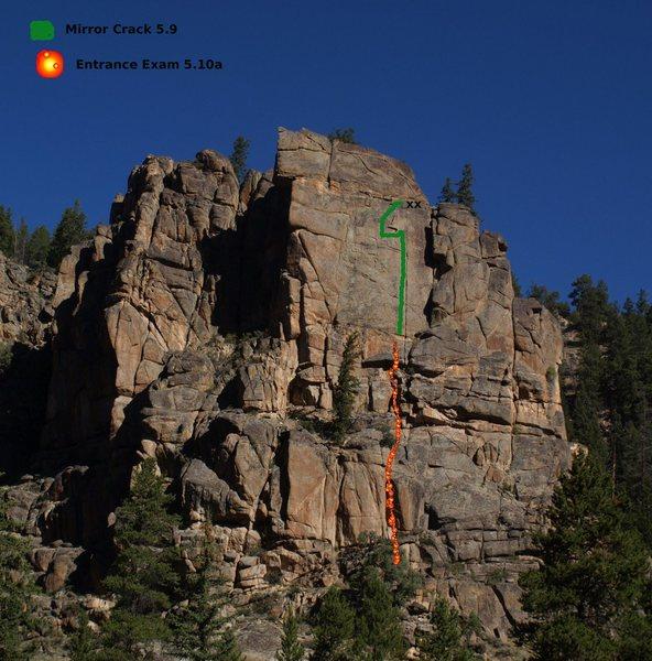 Rock Climbing Photo: Entrance Exam, 5.10a.