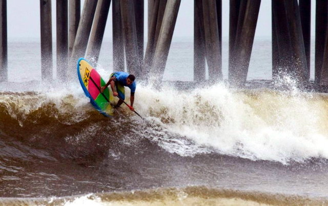 The Huntington Beach Pro, Stand Up World Tour, Day 1.<br> Photo: Harry Wiewel