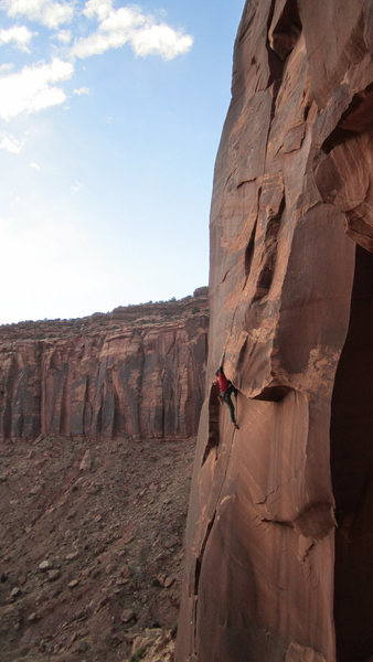 Rock Climbing Photo: That one short off width climb on the buttress lef...