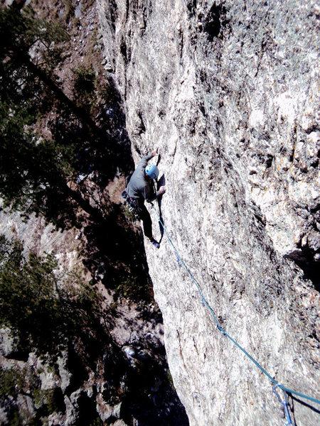 Rock Climbing Photo: Brian somewhere near the crux.