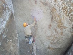 Rock Climbing Photo: JK replacing bolts. Someone had started the projec...