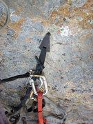 Rock Climbing Photo: The hook move.