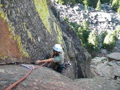 Rock Climbing Photo: Marc, enjoying the steepness of Cornered.