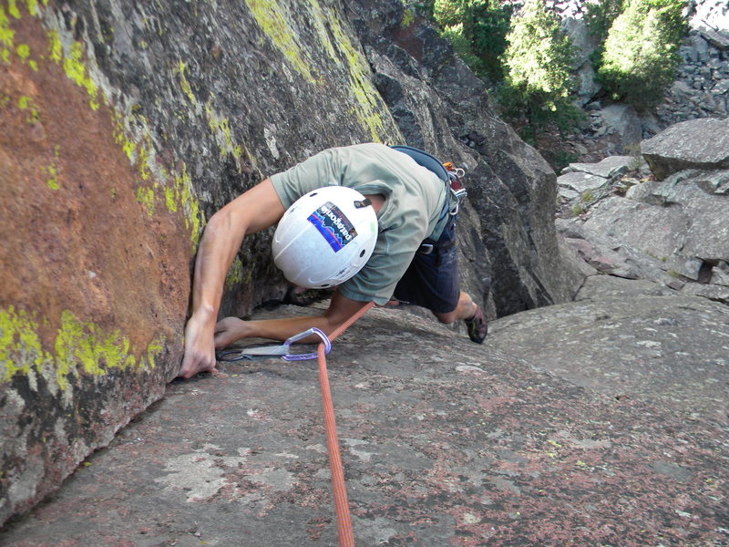 "Rock Climbing Photo: Marc, getting into the ""business' of the pitc..."