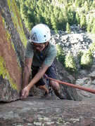 Rock Climbing Photo: Marc, finishing strong. Great finger locks and gea...