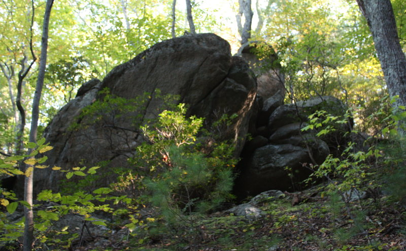 Rock Climbing Photo: upper clump view of Deerstand Bouldering area from...