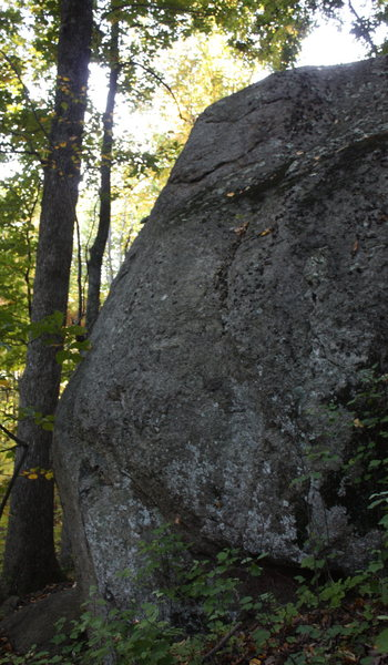slabby face of Middle Boulder